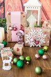 Poucos presentes de Natal Imagens de Stock