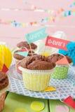 Poucos queques do chocolate Imagens de Stock