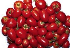 Poucos tomates vermelhos isolados Foto de Stock