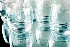 Poucos vidros vazios foto de stock royalty free