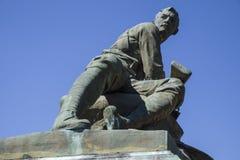 Południe - afrykański Wojenny pomnik wewnątrz Zakopuje St Edmunds Fotografia Stock