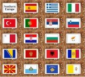 Południowi Europe kraje Zdjęcia Stock