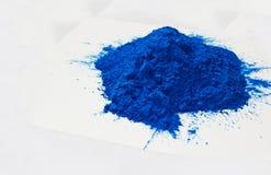 Poudre bleue Photo libre de droits