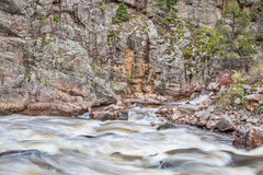 Poudre Canyon and River in Rocky Mountains Stock Image