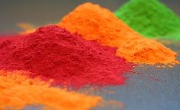 Poudre colorée Photographie stock libre de droits