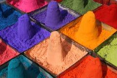 Poudre colorée Photo stock