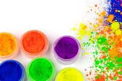 Poudre colorée naturelle de colorant image stock