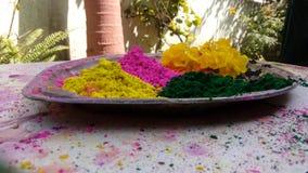 Poudre colorée Photo libre de droits