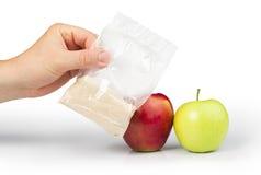 Poudre d'Apple et de pectine photo stock
