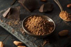 Poudre de cacao organique crue photos libres de droits