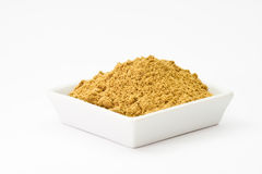 Poudre de coriandre Photo stock