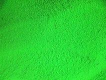 Poudre de couleur verte Photos stock