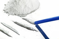 Poudre de drogues Photos libres de droits