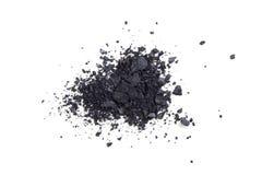 Poudre de fards à paupières de satin, makeaup et fond noirs de cosmétique Images libres de droits