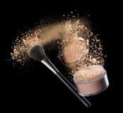 Poudre de maquillage Photo stock