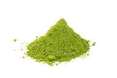 Poudre de matcha de thé vert Photographie stock libre de droits