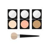 Poudre de minerai de maquillage Photographie stock