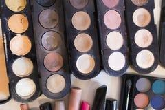Poudre de palette pour le maquillage professionnel image libre de droits