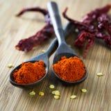 Poudre de piments rouge photo stock