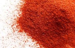 Poudre de poivre de piment rouge Photos stock