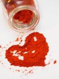 Poudre de poivron rouge Photographie stock libre de droits
