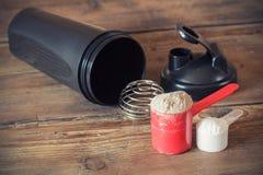 Poudre de protéine de lactalbumine Photos libres de droits