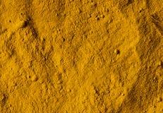Poudre de safran des indes Image stock
