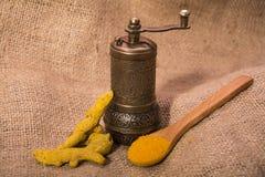 Poudre de safran des indes Photos libres de droits