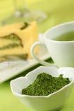 Poudre de thé vert de Matcha Photo libre de droits