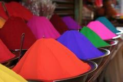 Poudre de Tikka dans l'Inde photographie stock