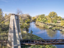 Poudre RIver and aqueduct Royalty Free Stock Photo