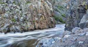 Poudre River Canyon stock photography