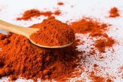 Poudre rouge de paprika Images libres de droits