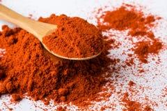 Poudre rouge de paprika Photos libres de droits