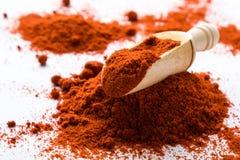 Poudre rouge de paprika Photographie stock