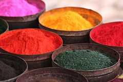 Poudres colorées Image libre de droits