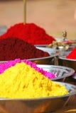 Poudres colorées de tika Photo stock