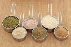 Poudres de protéine Photos stock