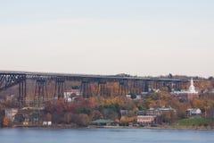 poughkeepsie bridżowa linia kolejowa zdjęcie stock