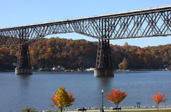 Poughkeepsie Railroad Bridge Stock Photo