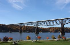 Poughkeepsie Railroad Bridge Stock Photos