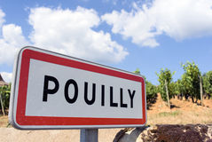 Pouilly, France Royalty Free Stock Photo