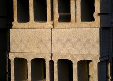 poukładał bloku betonu Obrazy Stock