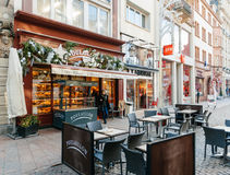 Poulaillon-Handwerker Boulanger-Bäckerei in Frankreich Lizenzfreies Stockfoto