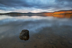 Poulaphouca Reservoir. Sunset at Poulaphouca Reservoir, Co. Wicklow, Ireland royalty free stock images