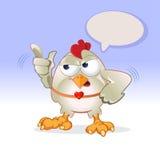 Poule blanche Images libres de droits