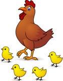 Poule et chéri de mère Photos libres de droits