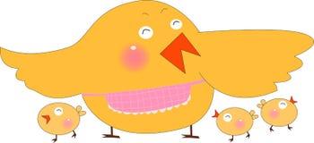 Poule et nana Photos libres de droits