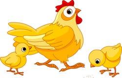 Poule et nanas illustration libre de droits