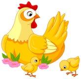 Poule et nanas Images stock